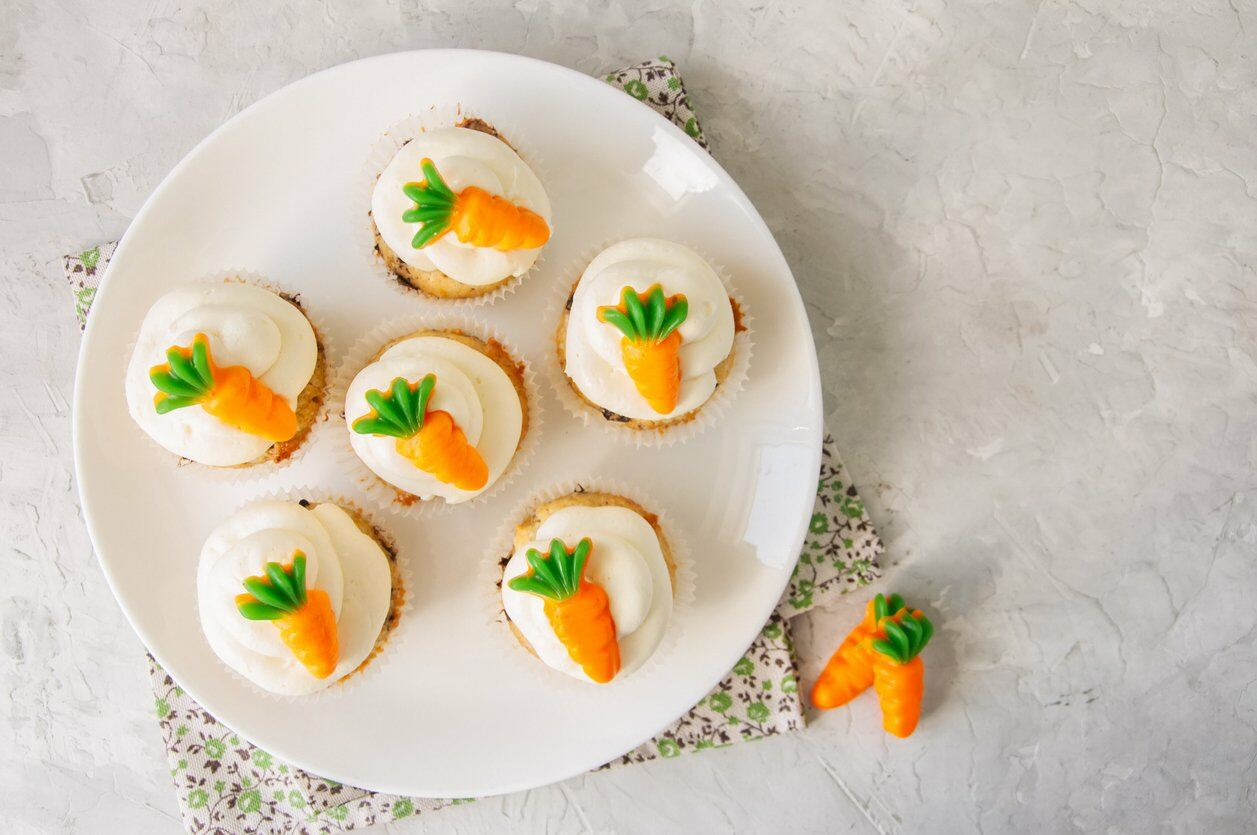 Carrot Cupcakes for Easter Party
